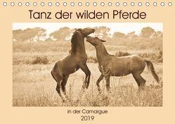 Tanz der wilden Pferde in der Camargue (Tischkalender 2019 DIN A5 quer) von Bölts,  Meike