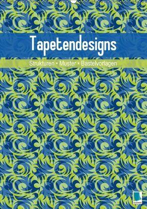 Tapetendesigns – Strukturen, Muster und Bastelvorlagen (Wandkalender 2018 DIN A2 hoch) von CALVENDO,  k.A.