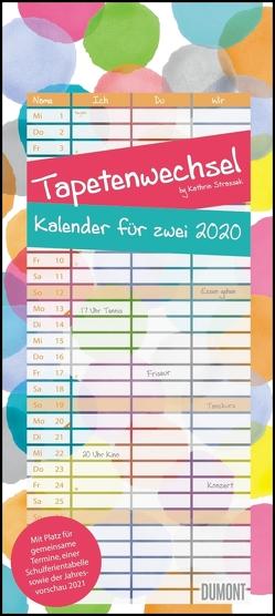 Tapetenwechsel 2020 – Kalender für zwei – Notizkalender – Partner-Planer – Format 22 x 49,5 cm von DUMONT Kalenderverlag, Strassek,  Kathrin