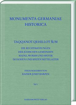 Taqqanot Qehillot Šum von Barzen,  Rainer Josef