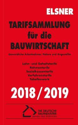 Tarifsammlung für die Bauwirtschaft 2018/2019 von Brettschneider,  Stefan, Wulf,  Nadine
