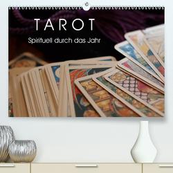 Tarot. Spirituell durch das Jahr (Premium, hochwertiger DIN A2 Wandkalender 2021, Kunstdruck in Hochglanz) von Stanzer,  Elisabeth