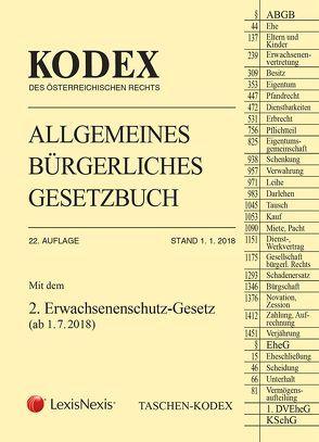 Taschen-Kodex ABGB 2018 von Doralt,  Werner, Mohr,  Franz