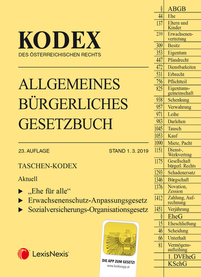 Taschen-Kodex ABGB 2019 von Doralt,  Werner, Mohr,  Franz