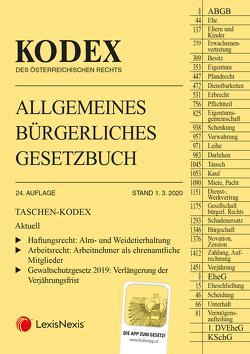 Taschen-Kodex ABGB 2020 von Doralt,  Werner, Mohr,  Franz