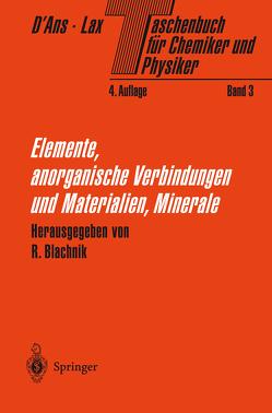 Taschenbuch für Chemiker und Physiker von Blachnik,  R., D'Ans,  Jean, Lax,  Ellen