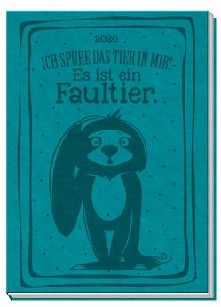 """Taschenkalender A7 Soft Touch """"Faultier"""" 2020"""