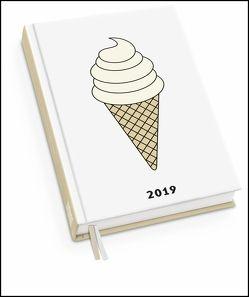 Taschenkalender EIS 2019 – redfries – Terminplaner mit Wochenkalendarium – Format 11,3 x 16,3 cm von DUMONT Kalenderverlag, redfries