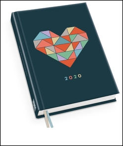 Taschenkalender 'Herz' 2020 – Haferkorn & Sauerbrey – Terminplaner mit Wochenkalendarium – Format 11,3 x 16,3 cm von DUMONT Kalenderverlag, Haferkorn & Sauerbrey