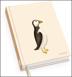 Taschenkalender »Papageientaucher« 2022 ‒ Von 30×40 ‒ Terminplaner mit Wochenkalendarium ‒ Format 11,3 x 16,3 cm