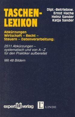 Taschenlexikon Abkürzungen von Hache,  Ernst, Sander,  Heinz