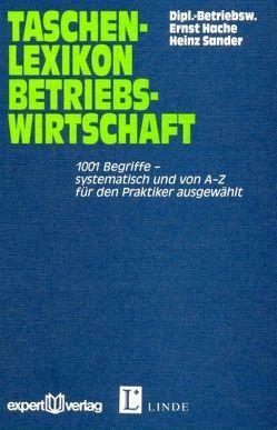 Taschenlexikon Betriebswirtschaft von Hache,  Ernst, Sander,  Heinz