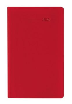 Taschenplaner Leporello PVC korallenrot 2020 – Bürokalender – Taschenplaner (9,5 x 16) – separates Adressheft – Terminplaner – Notizheft von ALPHA EDITION