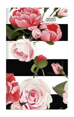 Taschenplaner Style Rosen 2020 – Taschenkalender (9,5 x 16) – seperates Adressheft – 1 Seite 1 Woche – 64 Seiten – Terminplaner von ALPHA EDITION