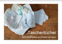 Taschentücher – zarte Kostbarkeiten aus Stickerei und Spitze (Wandkalender 2019 DIN A3 quer) von Take,  Friederike