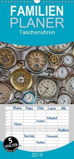 Taschenuhren – Familienplaner hoch (Wandkalender 2019 , 21 cm x 45 cm, hoch) von Eppele,  Klaus