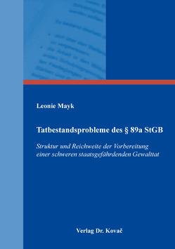 Tatbestandsprobleme des § 89a StGB von Mayk,  Leonie