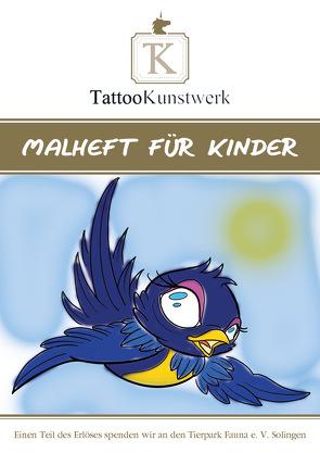 TattooKunstwerk – Malheft für Kinder von Mengel,  Angelina, NadelundFarbe,  Chris, Rose,  Malte, Thoms,  Sascha