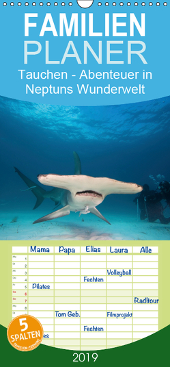 Tauchen – Abenteuer in Neptuns Wunderwelt – Familienplaner hoch (Wandkalender 2019 , 21 cm x 45 cm, hoch) von Stanzer,  Elisabeth
