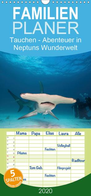Tauchen – Abenteuer in Neptuns Wunderwelt – Familienplaner hoch (Wandkalender 2020 , 21 cm x 45 cm, hoch) von Stanzer,  Elisabeth