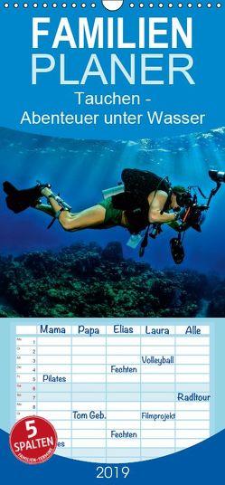 Tauchen – Abenteuer unter Wasser – Familienplaner hoch (Wandkalender 2019 , 21 cm x 45 cm, hoch) von Roder,  Peter