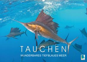 Tauchen: Wunderbares tiefblaues Meer (Wandkalender 2021 DIN A2 quer) von CALVENDO