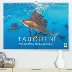 Tauchen: Wunderbares tiefblaues Meer (Premium, hochwertiger DIN A2 Wandkalender 2020, Kunstdruck in Hochglanz) von CALVENDO