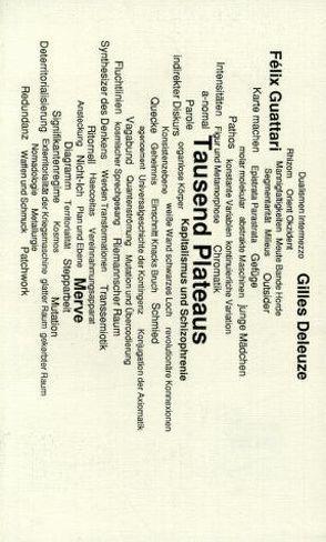 Tausend Plateaus von Deleuze,  Gilles, Guattari,  Félix, Rösch,  Günther