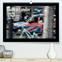 Taxis in London (Premium, hochwertiger DIN A2 Wandkalender 2020, Kunstdruck in Hochglanz) von Silberstein,  Reiner