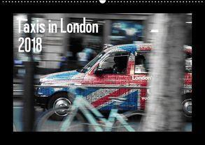 Taxis in London (Wandkalender 2018 DIN A2 quer) von Silberstein,  Reiner