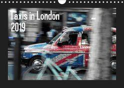 Taxis in London (Wandkalender 2019 DIN A4 quer) von Silberstein,  Reiner