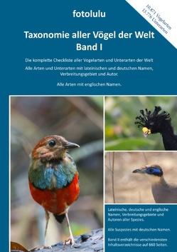 Taxonomie aller Vögel der Welt – Band I von fotolulu