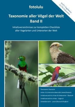 Taxonomie aller Vögel der Welt – Band II von fotolulu