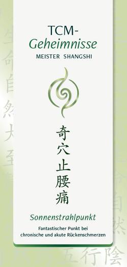 TCM-Geheimnisse: Sonnenstrahlpunkt von Shangshi,  Meister, Thiele,  Andrea
