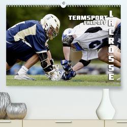 Teamsport Lacrosse – Face-off (Premium, hochwertiger DIN A2 Wandkalender 2021, Kunstdruck in Hochglanz) von Bleicher,  Renate