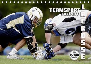 Teamsport Lacrosse – Face-off (Tischkalender 2021 DIN A5 quer) von Bleicher,  Renate
