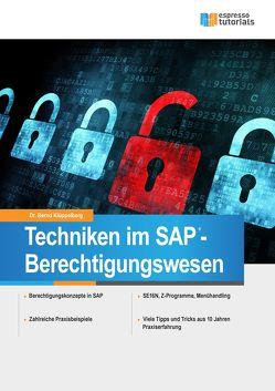 Techniken im SAP – Berechtigungswesen von Klüppelberg,  Bernd