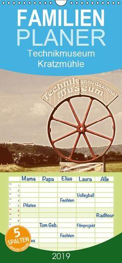 Technikmuseum Kratzmühle – Familienplaner hoch (Wandkalender 2019 , 21 cm x 45 cm, hoch) von Portenhauser,  Ralph