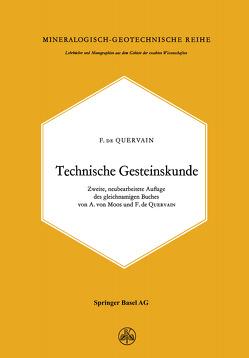 Technische Gesteinskunde von Quervain,  F. de