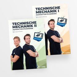 Technische Mechanik 1 & 2 Lernhefte Set von Oberkönig,  Carlo, Weiner,  Daniel, Wittke,  Marius