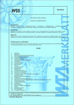 Technische Trocknung durchfeuchteter Bauteile: Planung, Ausführung und Kontrolle.