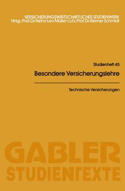 Technische Versicherungen von Meyer-Rassow,  Wolfgang, Vandrey,  Hans J.