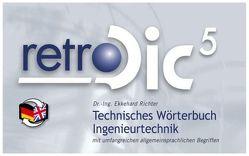 Technisches Wörterbuch retroDic 5 Ingenieurtechnik von Richter,  Ekkehard