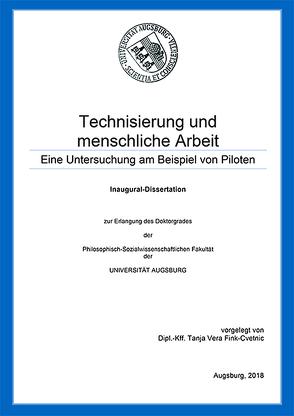 Technisierung und menschliche Arbeit von Fink-Cvetnic,  Tanja Vera