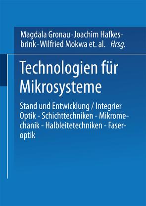 Technologien für Mikrosysteme von Hafkesbrink,  Joachim