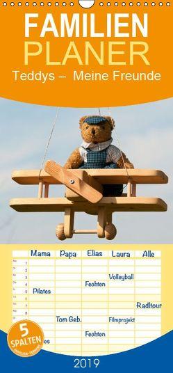 Teddys Meine Freunde – Familienplaner hoch (Wandkalender 2019 , 21 cm x 45 cm, hoch) von Bölts,  Meike