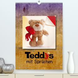 Teddys mit Sprüchen (Premium, hochwertiger DIN A2 Wandkalender 2021, Kunstdruck in Hochglanz) von Joy,  Iboneby