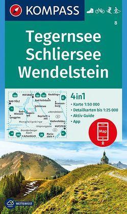 Tegernsee, Schliersee, Wendelstein von KOMPASS-Karten GmbH