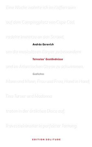 Teiresias' Geständnisse von Gerevich,  András, Kalász,  Orsolya, Schein,  Gábor