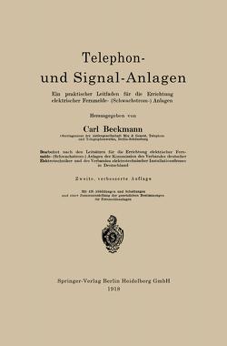 Telephon- und Signal-Anlagen von Beckmann,  Carl